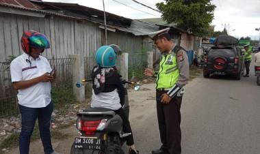 Oprasi Satlantas Porles Gorontalo Amankan 79 Pelangar Lalu Lintas