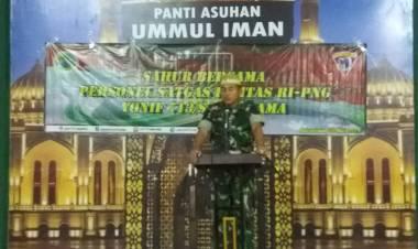Sahur Bersama Di Panti Asuhan, Danyonif Mayor Inf Doni Gredinand. SH, M.Tr. Han, M.I.Pol : Menjalin Tali Silaturahmi Antara TNI dan Masyarakat
