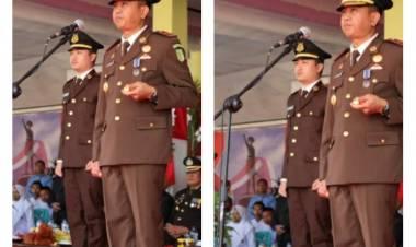 Kajari Kabupaten Gorontalo Di Daulat Sebagai Inspektur Di Tingkat Kabupaten Gorontalo, Dr. Supriyanto : Lewat Kemerdekaan Kesejahteraan Rakyat Harus Diperhatikan