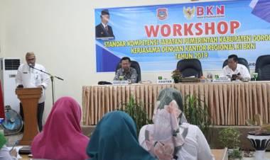 Asisiten III Hen Restu : Buka  Workshop Tata Kelolah  Pemerintahan Efektif