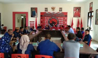 Sebelum Mendaftar Di DPC PDI Perjuangan Dan DPD PAN Sebagai Calon Bupati, Dr Rustam Akili Mohon Restu Rahmat Gobel