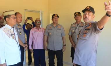 Wabup Thariq Modanggu  Dampingi Kapolda Gorontalo Tinjau Kesiapan Polres Gorut