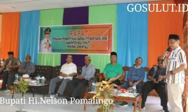 Bupati Hi.Nelson Pomalingo Dukung Dan Siapkan Anggaran Untuk Lahirnya DOB Boliyohuto Cs