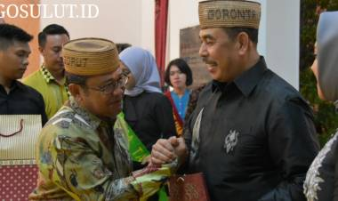 Bupati Hi.Indra Yasin Hadiri Pisah Sambut Kapolda Gorontalo