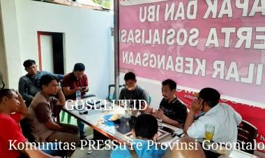 Komunitas PERS Gorontalo Terbentuk, Jefri Rumampuk : 10 Media  Ikuti Verifikasi Dewan Pers Indonesia