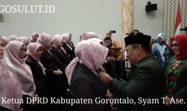 Ketua DPRD Kabupaten Gorontalo, Syam T.Ase Kukuhkan PIAD