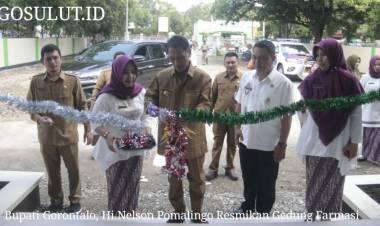 Bupati Gorontalo, Hi Nelson Pomalingo, Resmikan Gedung  Farmasi Berdiri Megah Di Kota Limboto