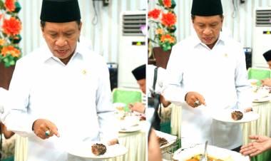 Walaupun Menjadi Orang Sukses, Menpora Zainudin Amali Tak Lupa Makan Khas Gorontalo