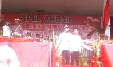 Breaking News :  Menpora Dr. Zainudin Amali jadi Irup  Hari Patriotik Dan Apel Akbar  Pagi Ini Di Gorontalo