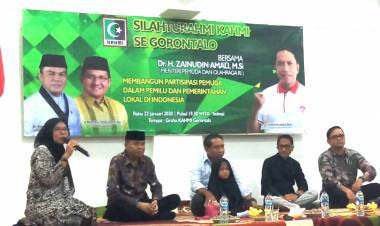 Menpora Silaturahmi Dengan HMI-KAHMI Di Gorontalo. Rustam Akili : Kami Bangga Dan Bahagia