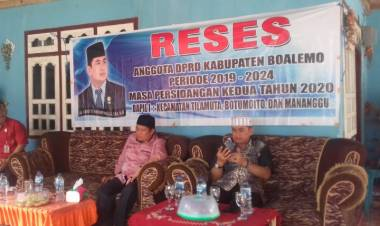 Anggota DPRD Boalemo,Hardi Mopangga : Serap Aspirasi Masyarakat Desa Bendungan