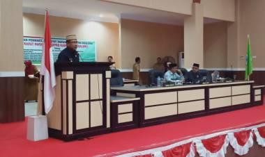 Wabup Anas Jusuf, Serahkan 3 Usulan Raperda kepada DPRD Kabupaten Boalemo.
