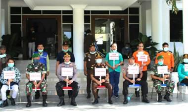 Gerakan Perangi Covid - 19 Terus Dilakukan Forkopimda Kabupaten Gorontalo