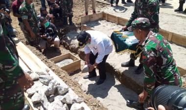 Bupati Darwis Hadiri Peletakan Batu Pertama Pembagunan Kodim Boalemo
