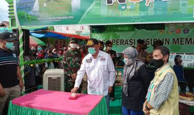 Gubernur Gorontalo Canangkan New Normal Dipasar Limboto