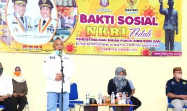 1.750 KPM Menerima Sembako dari Pemerintah Provinsi Gorontalo