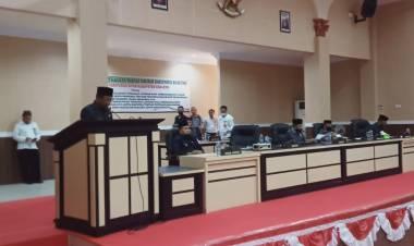 Bupati Darwis Hadiri Rapat Paripurna LKPD Tahun Anggaran 2019