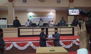 DPRD Boalemo Lakukan Paripurna LKPD Tahun Anggaran 2019