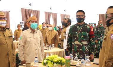 Korem 133/Nani Wartabone Menggelar Komunikasi Sosial Dengan Aparat Pemerintah Provinsi dan Kabupaten/Kota