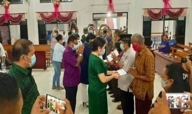Bupati Talaud Serahkan Bansos Untuk Para Tokoh Adat dan Agama Kecamatan Beo dan Beo Selatan