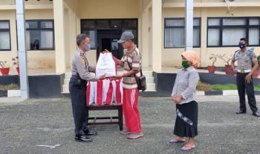 Kaum Dhuafa di Melonguane Dapat Bantuan Sosial Dari Polres Kepulauan Talaud .