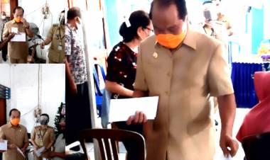 Walikoto Bitung MJL, Kembali Menyalurkan BLT Secara Simbolis Dikelurahan Pateten Satu