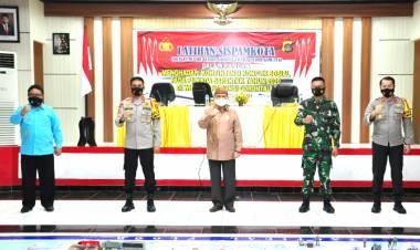 Wagub Gorontalo Hadiri Latihan Sispamkota Pilkada Serentak di Polda Gorontalo Gelar