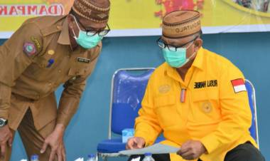 Dihadapan Warga Pohuwato Gubernur Gorontalo Ungkapkan Rasa Sedihnya