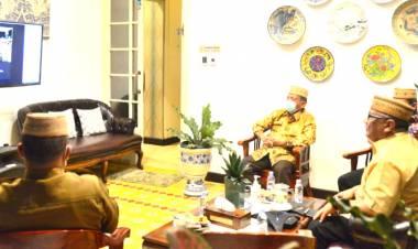 """""""Taati Prokes"""", Gubernur Gorontalo Meberi Dukungan Mubes Lamahu"""