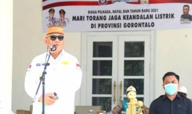 Gubernur Gorontalo Pimpin Apel siaga Ketersediaan Pasokan Listrik