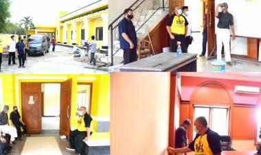 Rusli Habibie Tinjau Pekerjaan Renovasi Kantor DPD I Golkar Provinsi Gorontalo