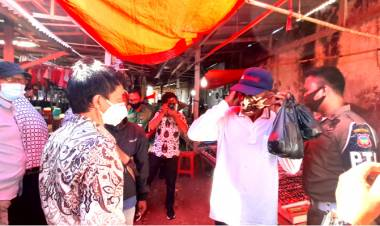 Wabup Gorontalo : Tijau Pasar Limboto Terkait Prokes