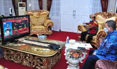 Wagub Gorontalo Ikuti Pertemuan Tahunan OJK Yang Dihadiri Presiden Joko Widodo