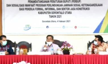 ASN - PTT dan GTT Diakomodir Dalam BPJS Ketenagakerjaan Oleh Pemda Gorut
