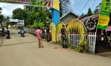 Koramil 1314-06 dan Aparat Desa Zuriati Canangkan Kampung Tangguh Nusantara