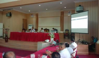 Wabup Gorut Pimpin Rapat Evaluasi Penyerapan Anggaran Tahun 2021