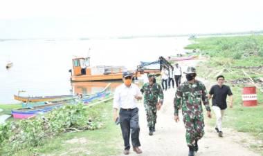 Kerjasama TNI- BWSS II, Danrem 133/NW Tinjau Danau Limboto