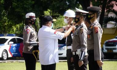 Gubernur Gorontalo Pimpin Gelar Pasukan 1.674 Personil Gabungan