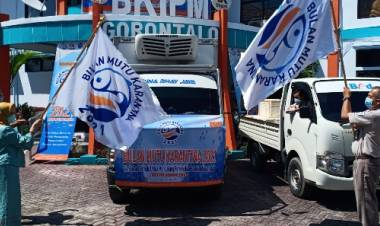 BKIPM Peduli Sosial, Distribusikan 1150 Paket Bantuan Ikan Beku ke Masyarakat