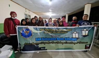 Safari Ramadhan BNNK Bone Bolango, Gelar Sahur Bersama dan Bagikan Sembako