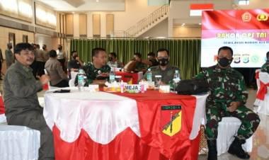 Danrem 133/NW Hadiri Rakor Satgas Operasi TNI-POLRI Wilayah Kodam XIII/Mdk