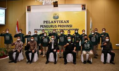 Danrem 133/NW Menghadiri Pelantikan Pengurus PBSI Gorontalo Masa Bakti 2020-2024