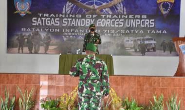 Danrem 133/NW Menutup TOTSatgas Standby Forces UNPCRS Yonif 713/ST