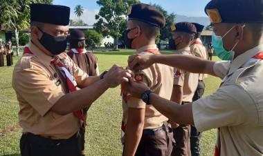 Angkatan Ke 7 Pramuka Saka Wirakartika 351-352 Kodim 1304/Gtlo Resmi Dilantik