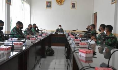 Pimpin Rakor Serbuan Vaksinasi, Danrem: Penanganan Covid Tugas TNI