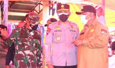 Gubernur Gorontalo Bersama Forkopimda Lakukan Inspeksi Pasar Moodu