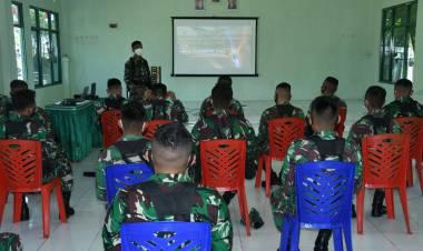 Briefing Jelang Uji Siap Tempur Tingkat Peleton Yonif 713/ST