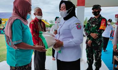 Dandim 1313/Pohuwato Bersama Forkopimda Meninjau Serbuan Vaksinasi di Popayato