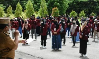 Mahasiswa KKN-UNG Disambut Bupati Gorut