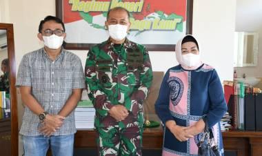 Danrem 133/NW Terima Kunjungan Silaturahmi Pemilik Lahan Secaba
